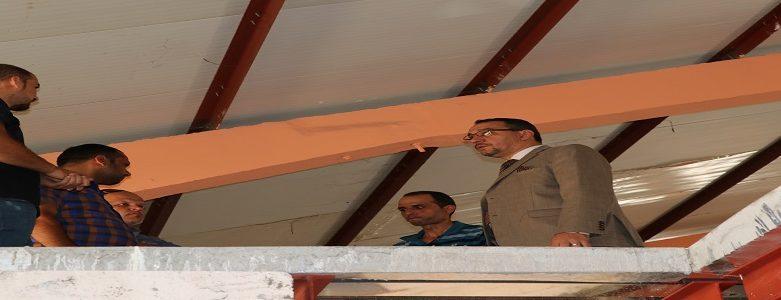 السيد عميد كلية الهندسة يتفقد القاعات الدراسية تحت الانشاء في موقع فريحة