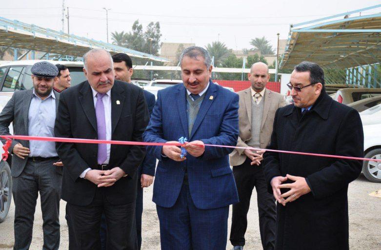 السيد رئيس جامعة كربلاء يفتتح الشارع الجديد المؤدي لكلية الهندسة