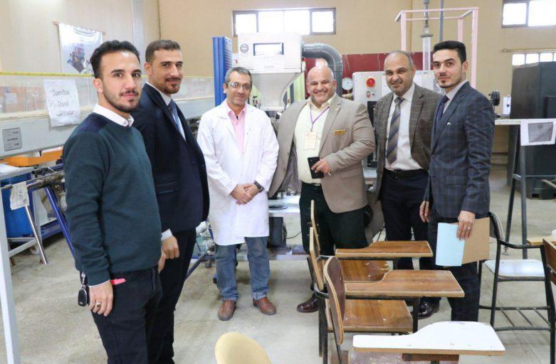 اللجنة الوزارية لجودة المختبرات تزور كلية الهندسة